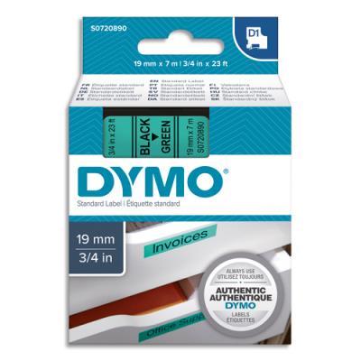 Ruban Dymo D1 - 45809 - Ruban noir/vert - 19 mm x 7 m