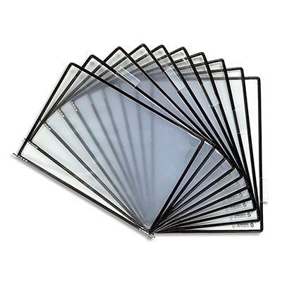 Poche à pivot Tarifold Sterifold en PVC - format A4 - sachet de 10 - coloris noir