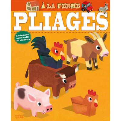 Pliages Lito Diffusion - formes prédécoupées : la ferme et le tracteur et 6 animaux - lot de 8 (photo)