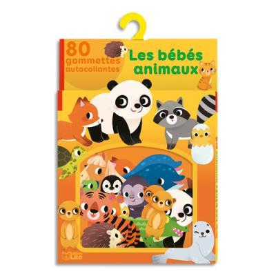 Gommettes Lito Diffusion adhésives - colorées - thème des bébés animaux - à partir de 3 ans - boîte de 80 (photo)
