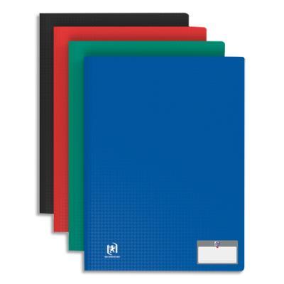 Protège-documents en polypropylène Elba - 80 pochettes/160 vues - assortis classique - couverture 3/10e pochettes 6/100e