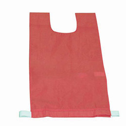 Lot de 12 chasubles simples 60 x 35 cm,  coloris : rouge (photo)
