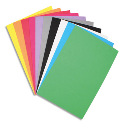 Feuilles Sodertex - mousse eva - format : 20 x 30 cm - épaisseur 2 mm - 10 coloris assortis - sachet de 10 (photo)
