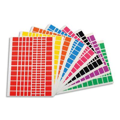Planches Apli - gommettes rectangles - tailles et couleurs assorties - pochette de 18