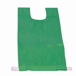 Lot de 12 chasubles simples 60 x 35 cm,  coloris : vert (photo)