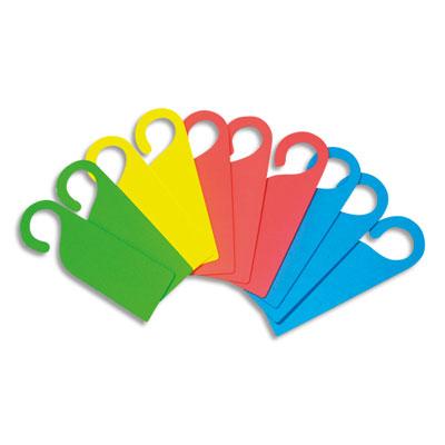 Plaques de porte Sodertex - mousse eva - 4 coloris assortis - format 26,5 x 8,5 cm - épaisseur 4mm - lot de 10