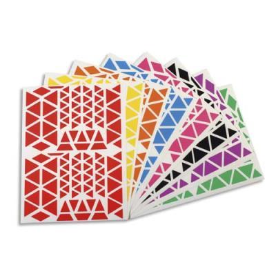 Planches Apli - gommettes triangles - tailles et couleurs assorties - pochette de 18