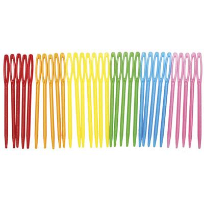 Aiguilles Sodertex - plastique - coloris assortis - l7 x d0,1 cm - sachet de 32 (photo)