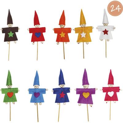 Sachets individuels Sodertex Lutin Sweety - coloris assortis - feutrine - 2mm - à fabriquer - kit de 24 (photo)