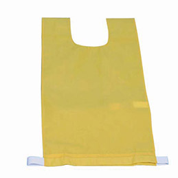 Lot de 12 chasubles simples 60 x 35 cm,  coloris : jaune (photo)