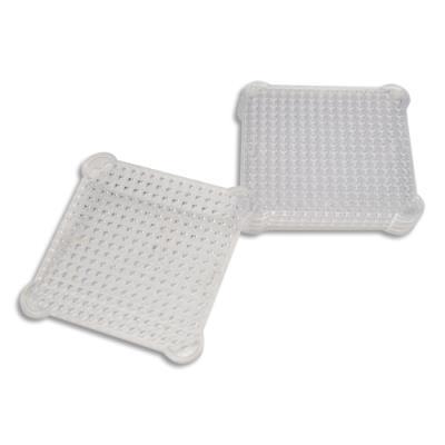Plaques Sodertex - 8 x 8 cm - plastique transparent - pour aqua perles - lot de 5 (photo)
