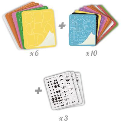 Pièces créatif Crazy Artist Sordertex - feutrine adhésive - pour classe entière - 6 x 8 cm - kit de 100 (photo)