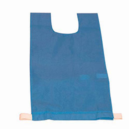 Lot de 12 chasubles simples 60 x 35 cm,  coloris : bleu (photo)