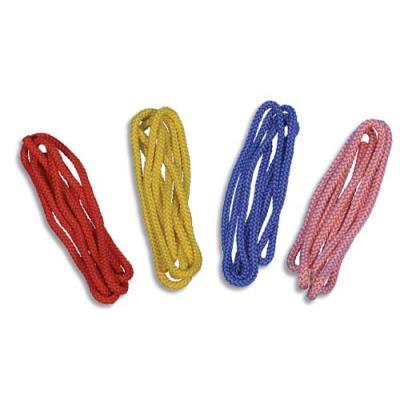 G.R.S. LOT DE 4 Cordes à sauter 2 mètres, en polyester tressé Ø 10 mm, embouts brûlés, coloris assortis