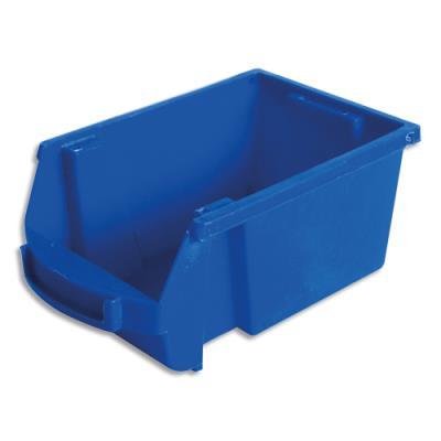Bac de rangement à bec Viso Spacy - 1L - avec porte étiquette - polypropylène - bleu - L10 x H7 x P16 cm