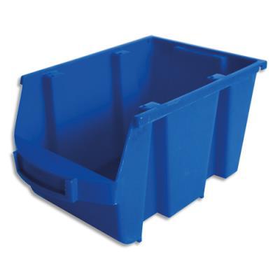 Bac de rangement à bec Viso Spacy - 4L - avec porte étiquette - polypropylène - bleu - L14 x H12,5 x P23 cm