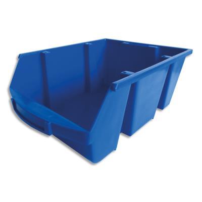 Bac de rangement à bec Viso Spacy - 28L - avec porte étiquette - polypropylène - bleu - L30,5 x H17,5 x P46 cm (photo)