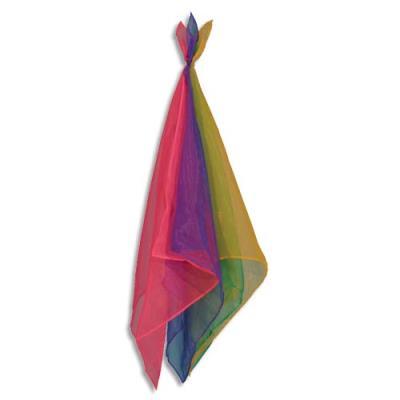 Foulard de jonglage, carré. Le lot de 12 PCs. coloris assortis.
