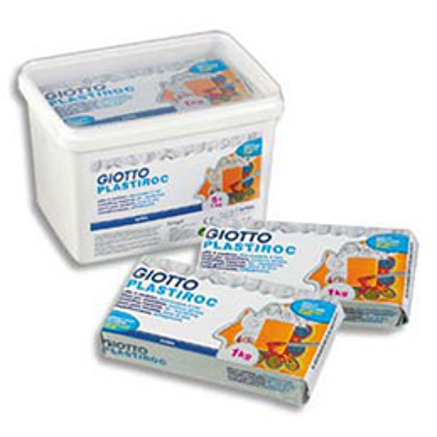 Pâte à modeler autodurcissante Plastiroc - pack de 5 pains de 1 kg plastiroc (photo)
