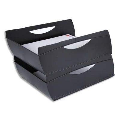 Corbeille à courrier ajourée Méga '91265' - noir (photo)