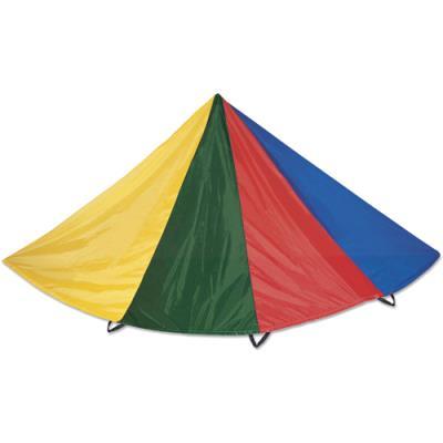Jeu du parachute First Loisirs - polyester multicolore - diamètre 3,5m - 8 poignées - livré dans un sac (photo)
