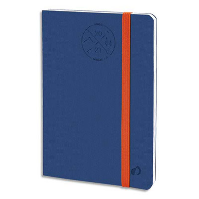 Agenda Quo Vadis Everest Président SD ML - format 21x27 cm - 1 semaine sur 2 pages - 16 mois SAD - blanc - bleu