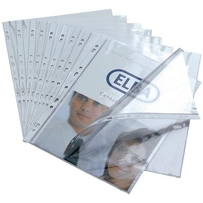 Pochette perforée A4 - PVC 8/100e - transparente - paquet 100 unités (photo)