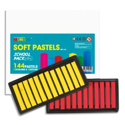 Pastels secs Mungyo  - 12 plateaux de 12 pastels pour 12 couleurs basiques - pack de 144 (photo)