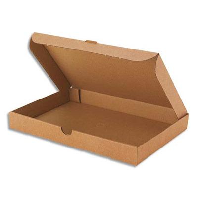 Boîte postale extra-plate en carton - L22,5 x H2,5 x P15 cm - brun (photo)