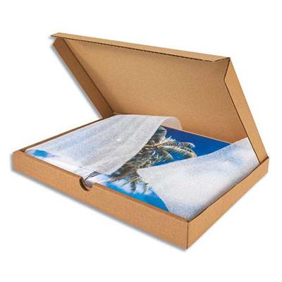 Boîte postale extra-plate en carton - L30,5 x H2,5 x P22 cm - brun (photo)