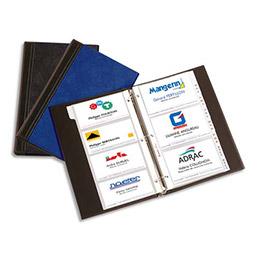 Classeur porte-cartes de visite Elba Elégance - 140 cartes - noir (photo)