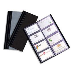 Album Elégance pour cartes de visites - format 27x12 cm - pour 80 cartes de visite - noir (photo)