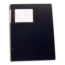 Protège-documents en polypropylène Elba - 20 pochettes/40 vues - format A3 - noir - couverture 8/10e pochettes 6/100e