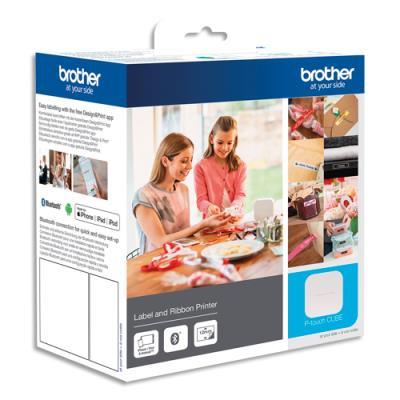 Etiqueteuse bureautique bluetooth Le Cube PT-P300BT Brother - packaging loisir créatif (photo)