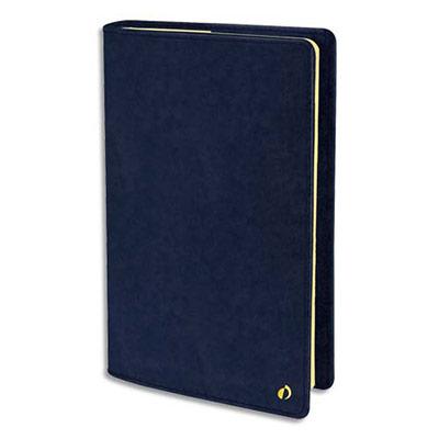 Agenda Quo Vadis Wild Prestige - format 16x24 cm - 1 semaine sur 2 pages - papier ivoire - couverture velours bleu