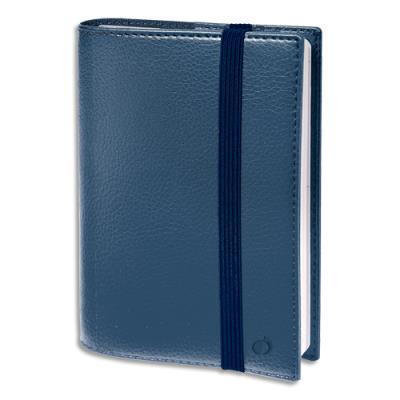 Agenda Quo Vadis Time and Life - format 21x27 cm - 1 semaine sur 2 pages - répertoire - fermeture élastique - bleu irisé