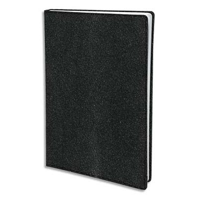 Agenda Quo Vadis Nacre Executif - format 16x16 cm - 1 semaine sur 2 pages - répertoire - couverture nacrée noire