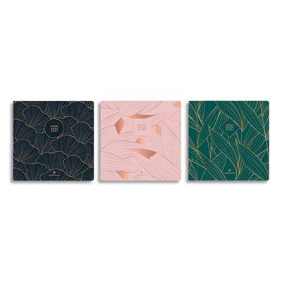 Agenda Oberthur Astoria - format 9,5x17,5 cm - 1 semaine sur 2 pages - couverture imprimée quadri - 3 décors assortis (photo)