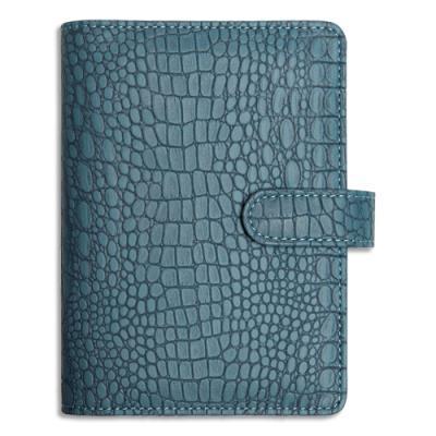 Organiseur Exacompta Exatime 14 Baby Croco - format 11x14,5 cm - 1 semaine sur 2 pages - 16 mois - couverture aimantée grain bleu