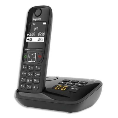 Téléphone sans fil Gigaset AS690A - avec répondeur - noir