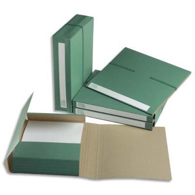 Chemise à capacité variable en carton - 3 rabats et élastique - dos 7 cm - A4