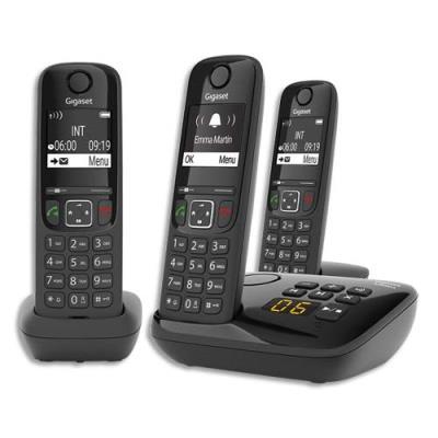 Téléphone sans fil Gigaset AS690A Trio - avec répondeur -noir