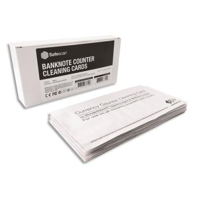 Lingettes de nettoyage pour compteuses de billets Safescan - 152-0633 - pack de 15
