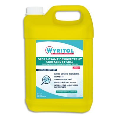 Nettoyant Wyritol dégraissant et désinfectant - pour surfaces et sols - bidon de 5 litres