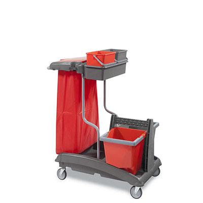 Chariot de ménage équipé Ideatop - pour surfaces supérieures à 200 m² (photo)