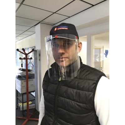 Visière d'hygiène pour casque de chantier / casquette