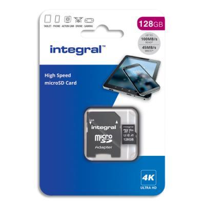 Carte Micro SDXC + adaptateur  - 128Go - V30 - U3 - A1 - Class 10 (photo)