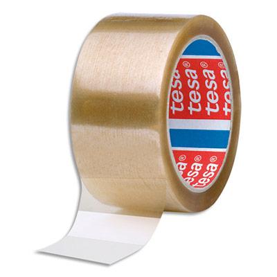 Adhésif d'emballage Tesa - polypropylène - 48 microns - H50 mm x L100 m - havane