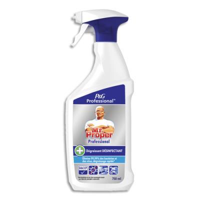 Spray dégraissant désinfectant Mr Proper - Virucide EN 14476 - formule professionnelle - 750 ml