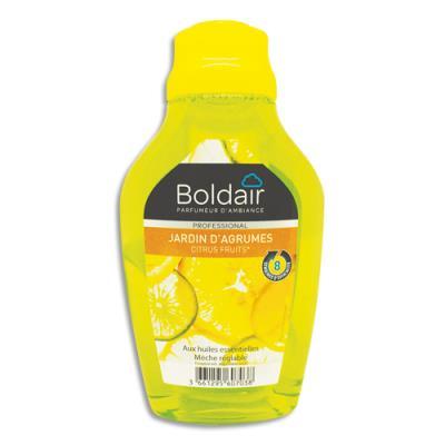 Flacon mèche réglable Boldair - aux huiles essentielles - parfum Jardin d'agrumes - 375 mL